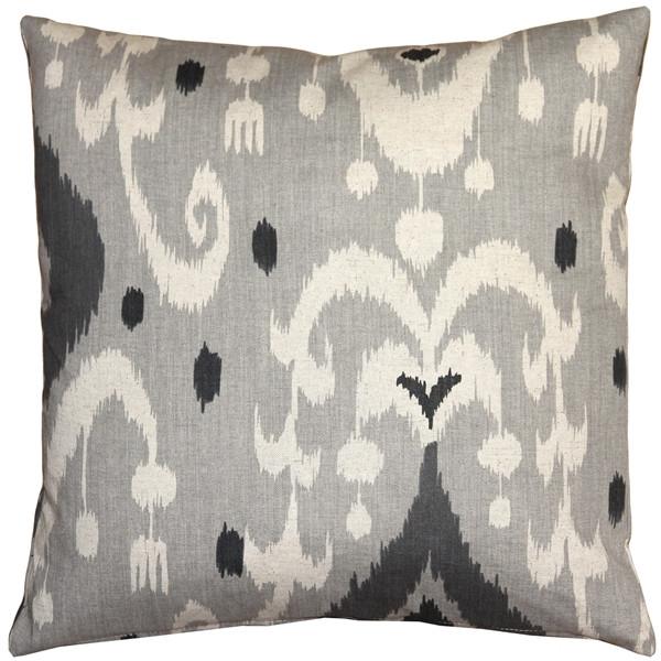 Indah Ikat Gray 20x20 Throw Pillow