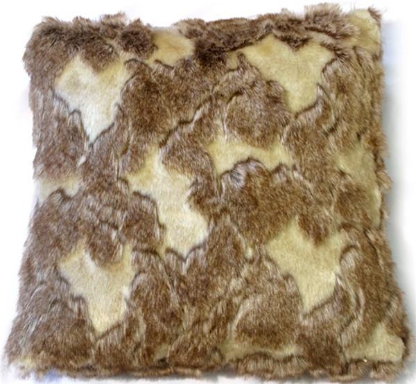 Variegated Faux Fur Pillow