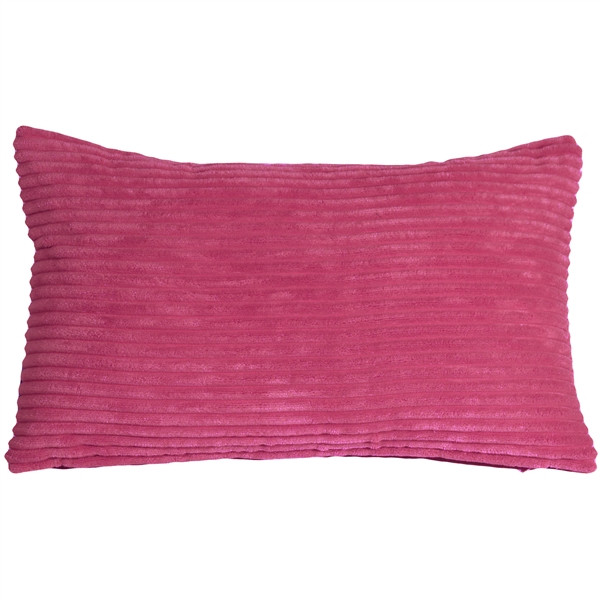 Wide Wale Corduroy 12x20 Magenta Pink Throw Pillow