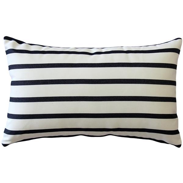 Sunbrella Lido Indigo Stripes 12x19 Outdoor Pillow
