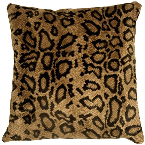 Snake Skin Velboa Faux Fur 20x20 Throw Pillow