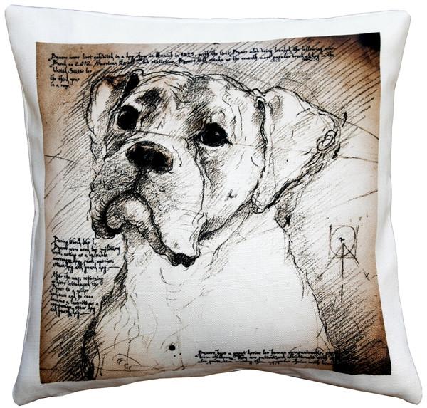Boxer 17x17 Dog Pillow