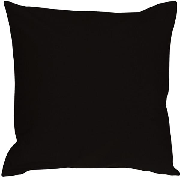 Caravan Cotton Black 18x18 Throw Pillow