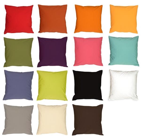 Pillow Decor's Caravan Cotton Pillows in Solid Colors