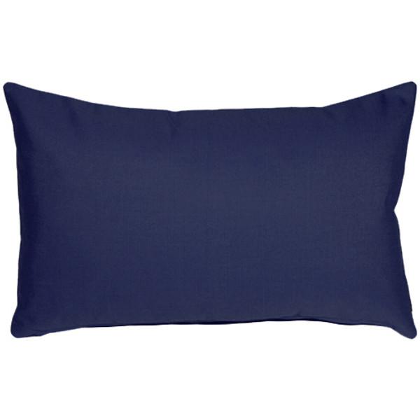 Sunbrella Navy Blue 12x19 Outdoor Pillow