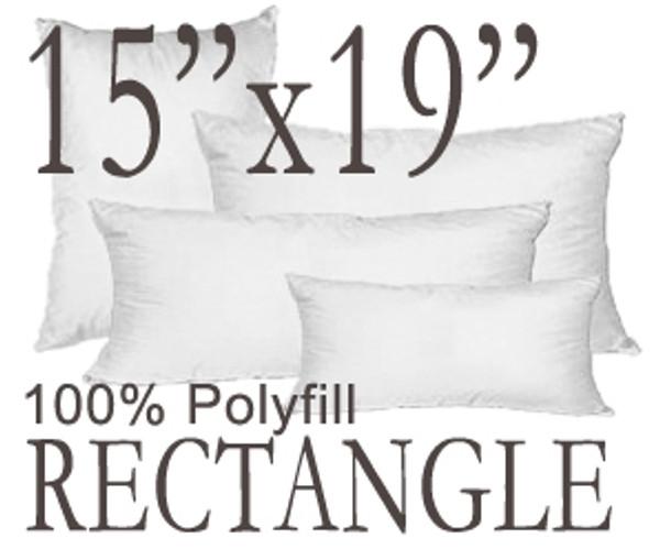 15x19 Rectangular Polyfill Throw Pillow Insert