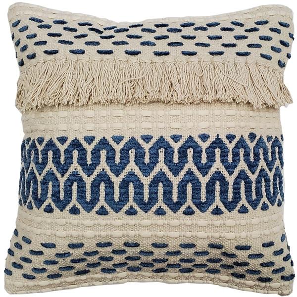 Ojai Blue Bohemian Pillow 20x20 Boho Style Throw Pillow from Pillow Decor