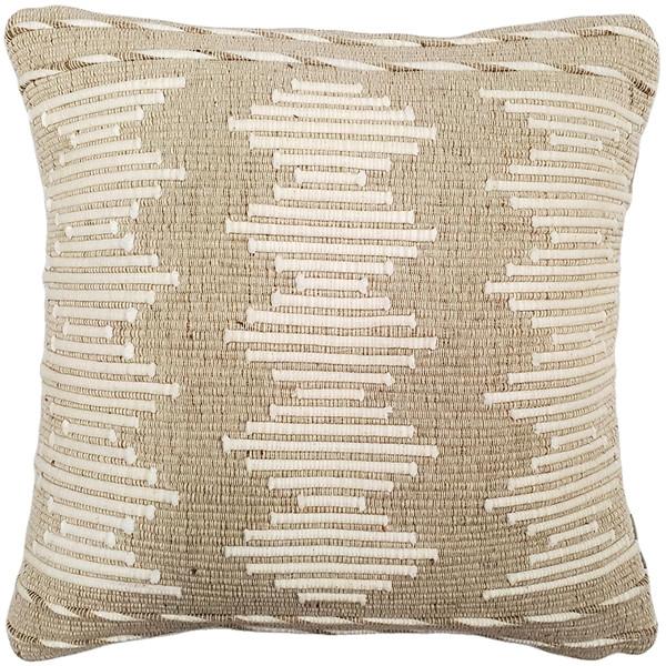 Ojai Cream Vibe Bohemian Pillow 20x20 Boho Style Throw Pillow from Pillow Decor