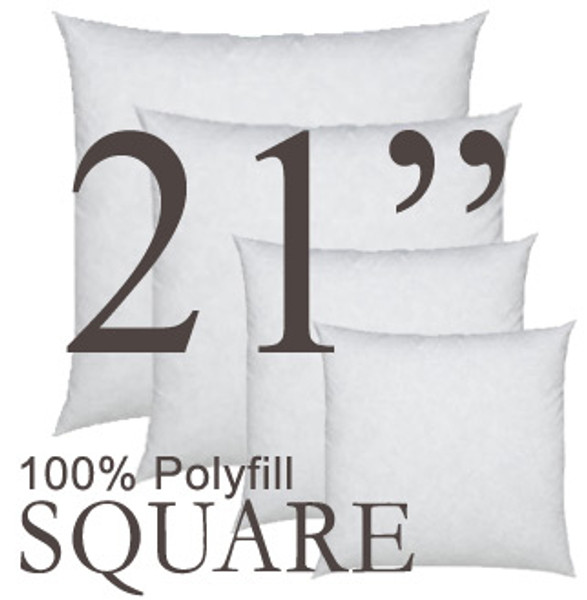 21x21 Square Polyfill Throw Pillow Insert