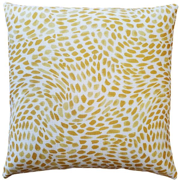 Matisse Dots Golden Yellow Throw Pillow 19x19