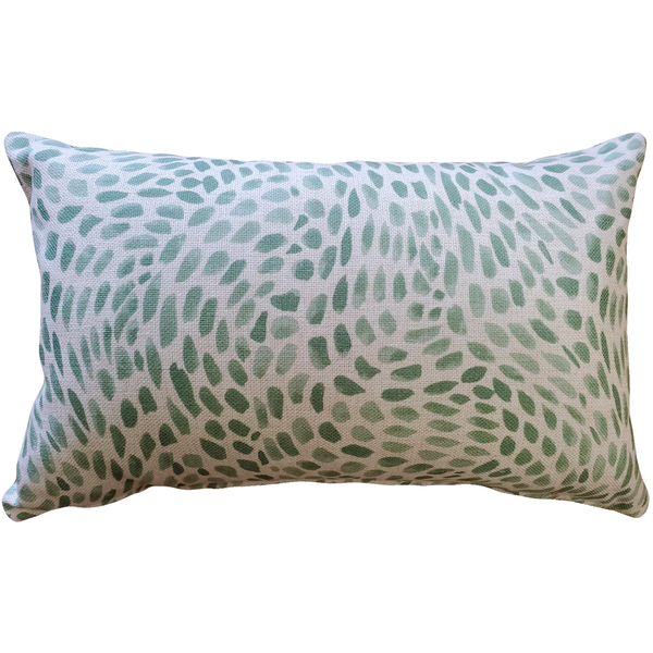 Matisse Dots Spring Green Throw Pillow 12x19