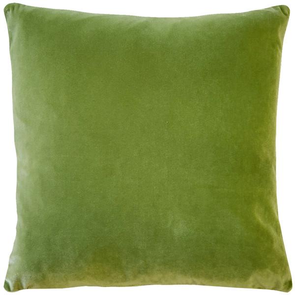 Castello Summer Green Velvet 20 Inch Square Throw Pillow