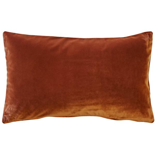 Castello Cinnamon 12x20 Inch Rectangular Velvet Throw Pillow