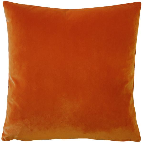 Castello Sedona Orange Velvet 20 Inch Square Throw Pillow Fabric