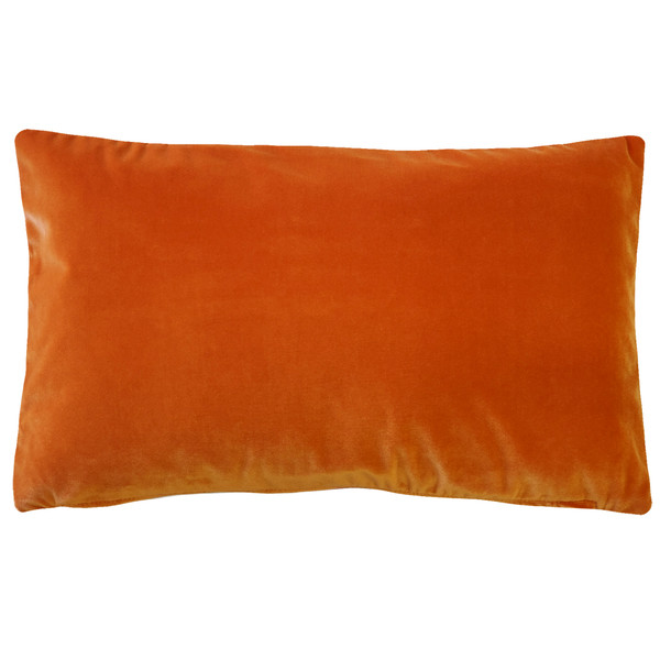Castello Sedona Orange 12x20 Inch Rectangular Velvet Throw Pillow