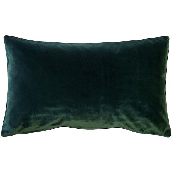 Castello Forest Green 12x20 Inch Rectangular Velvet Throw Pillow