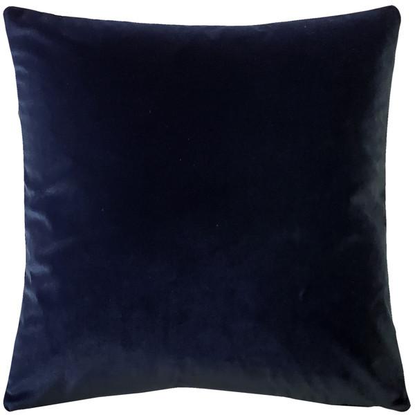 Castello Midnight Blue Velvet 17 Inch Square Throw Pillow