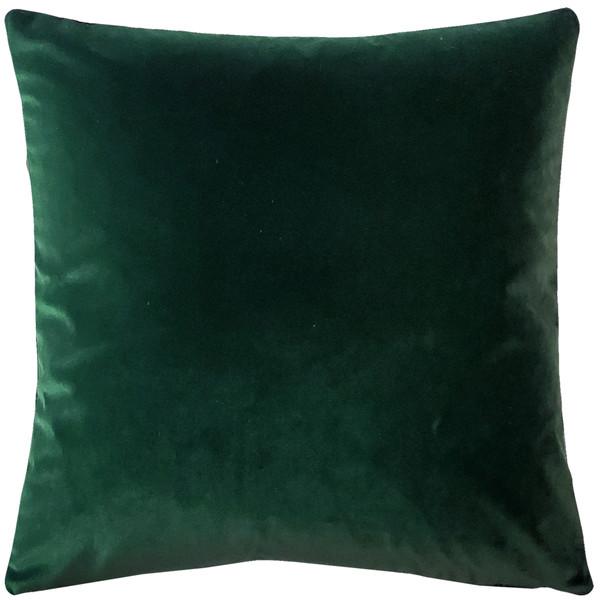 Castello Forest Green Velvet 17 Inch Square Throw Pillow