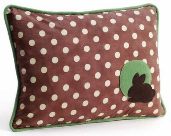 Bunny Polka Dot Decorative Throw Pillow