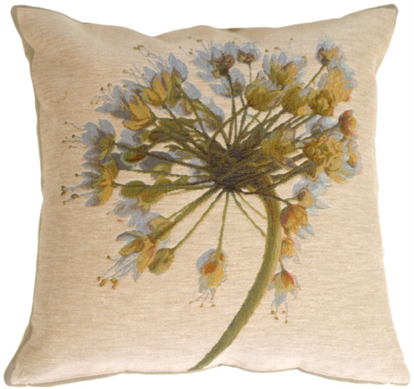 Neutral Garlic Flower Pillow