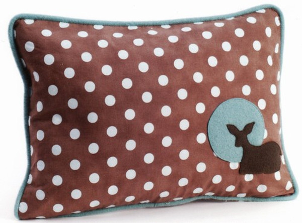 Fawn Polka Dot Decorative Throw Pillow