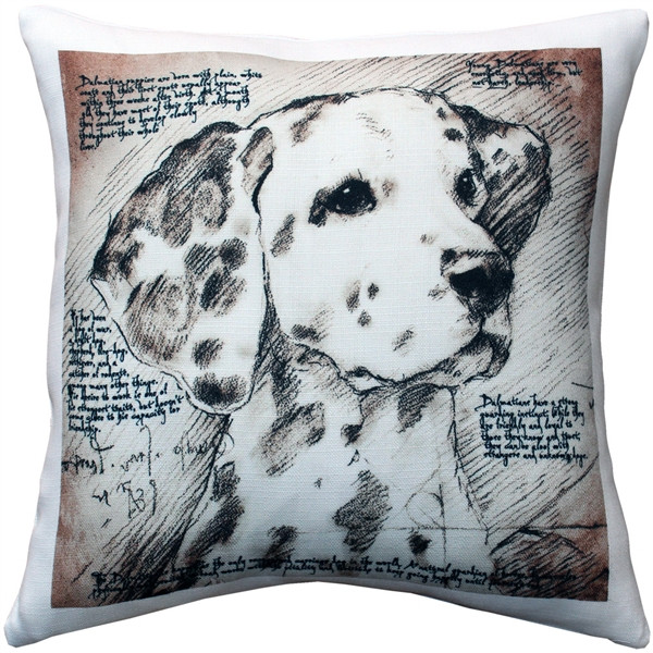 Dalmatian 17x17 Dog Pillow