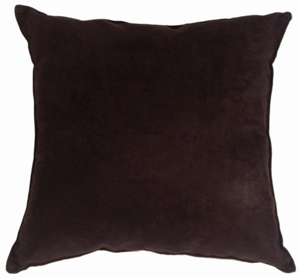 Passion Suede - Black Decorative Throw Pillow