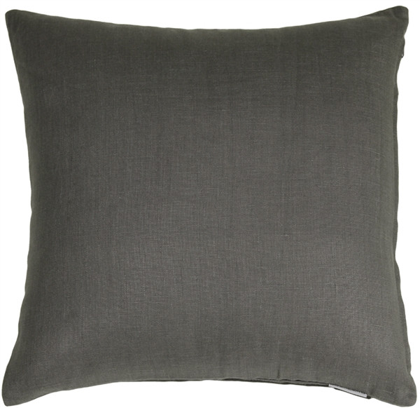 Tuscany Linen Charcoal Gray 20x20 Throw Pillow