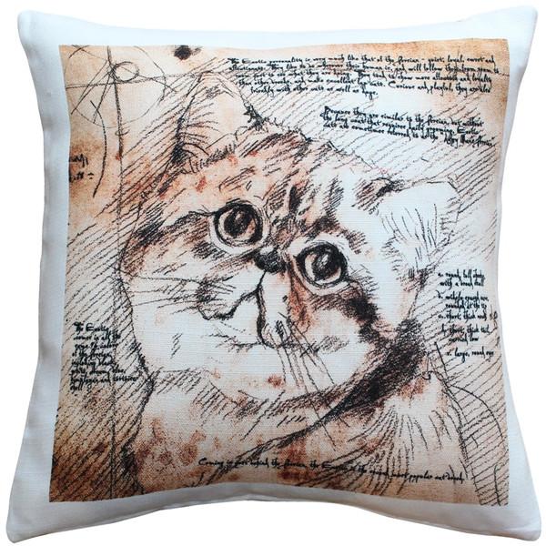 Exotic Cat 17x17 Throw Pillow