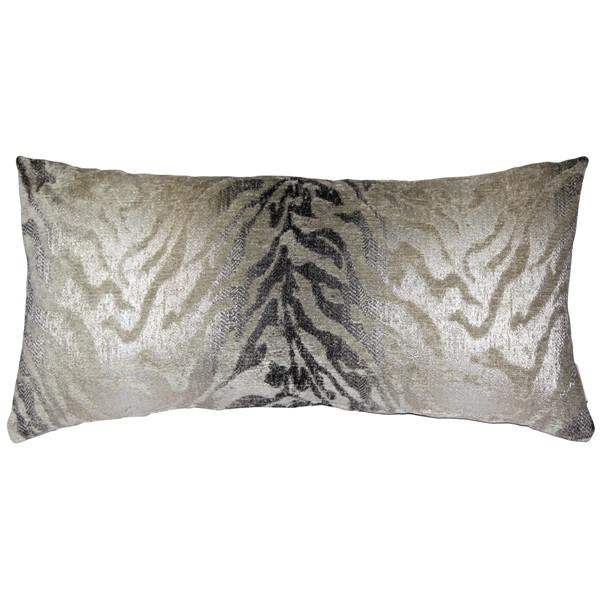 Ruffino Fog Chenille Throw Pillow 12x24