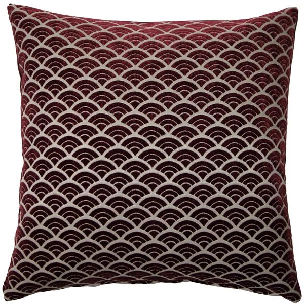 Seigaiha Scallop Throw Pillow 19x19