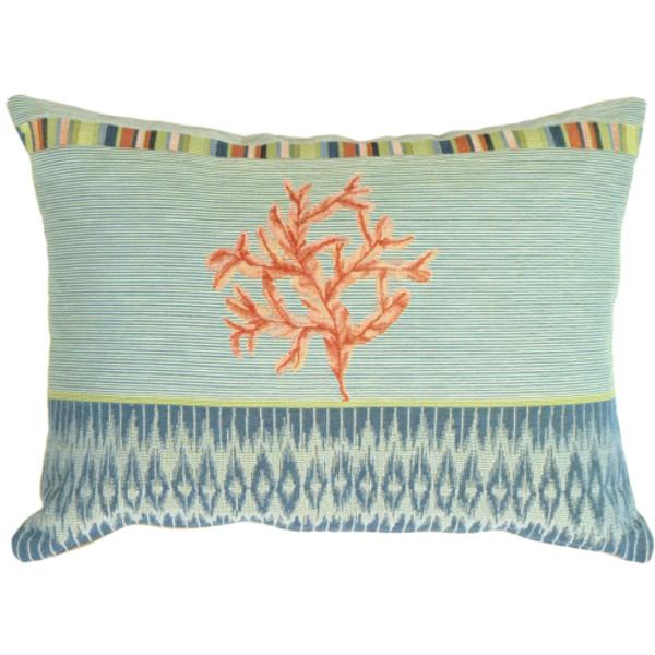 Tropical Coral Decorative Pillow