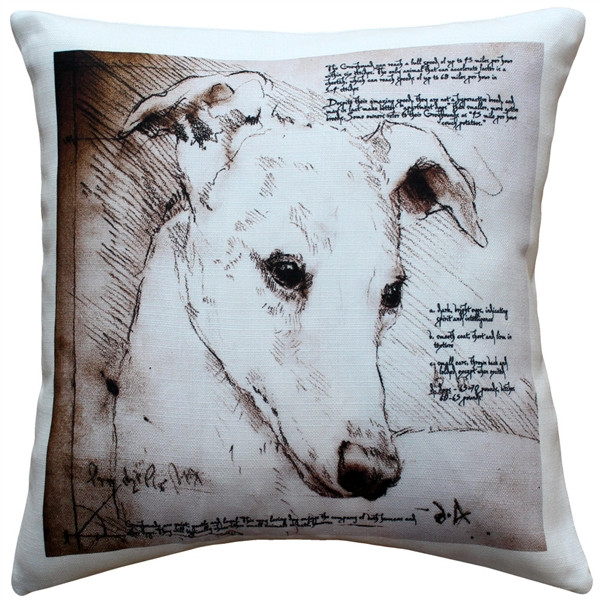 Greyhound 17x17 Dog Pillow