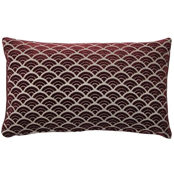 Seigaiha Scallop Throw Pillow 12x19