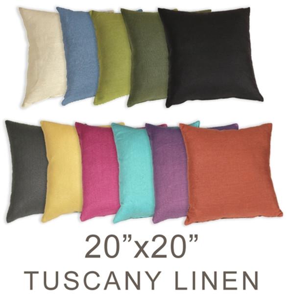 Tuscany Linen 20x20 Throw Pillows