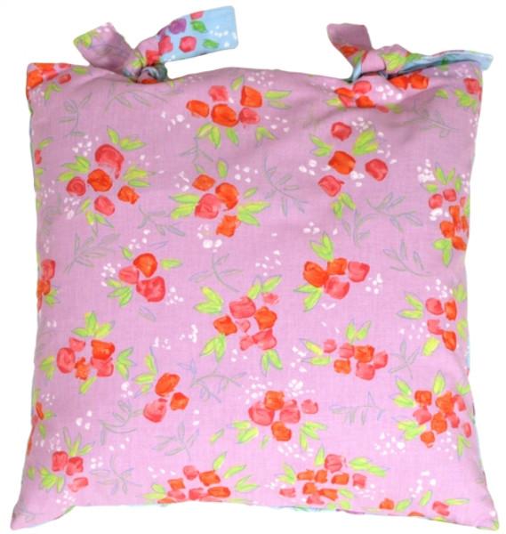 Aqua Lavender Floral Delight Decorative Pillow