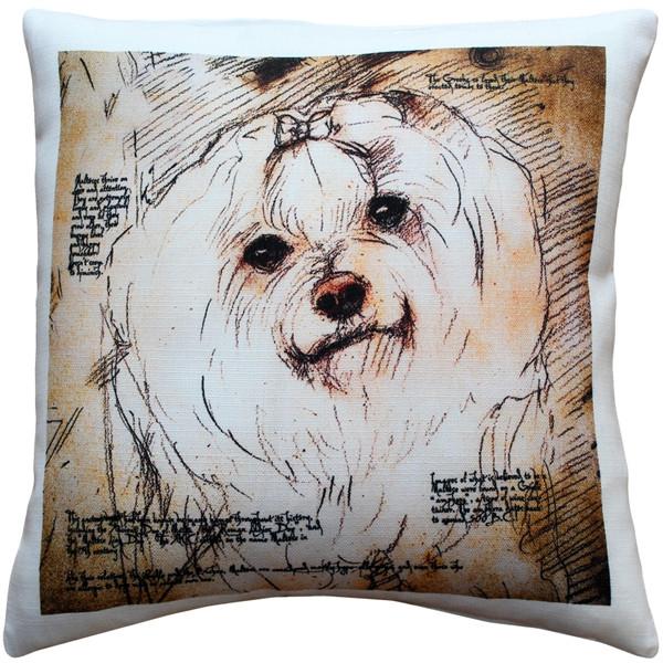 Maltese 17x17 Dog Pillow