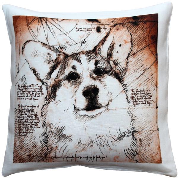 Pembroke Welsh Corgi 17x17 Dog Pillow