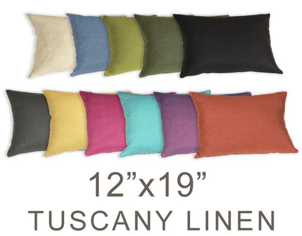 Tuscany Linen 12x19 Throw Pillows