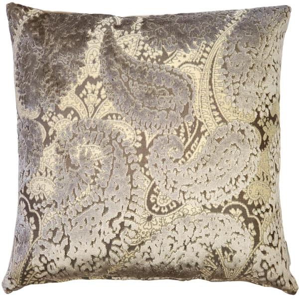 Rochelle Owl Paisley Velvet Pillow 20x20