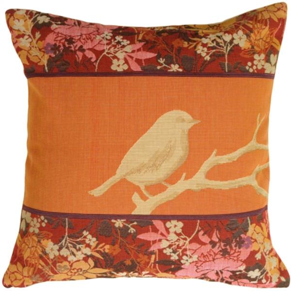 Chickadee Song Bird Decorative Pillow