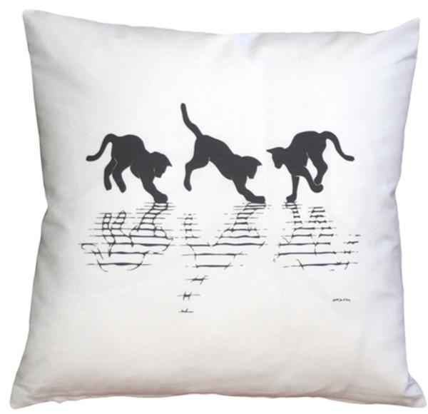 Cat Reflections 16x16 Throw Pillow