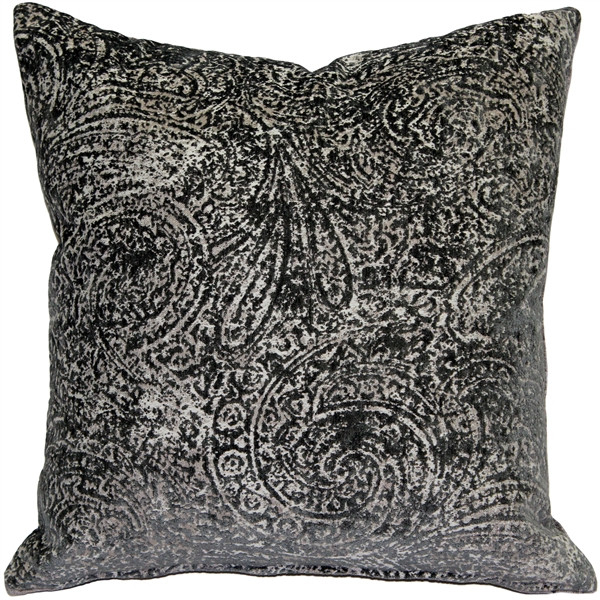Visconti Gray Chenille Throw Pillow 17x17