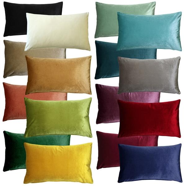 Corona Velvet Throw Pillows 12x20