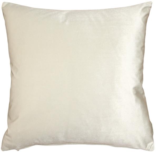 Corona Ivory Velvet Pillow 16x16