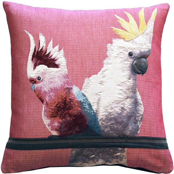 Cockatiel Birds Pink Throw Pillow