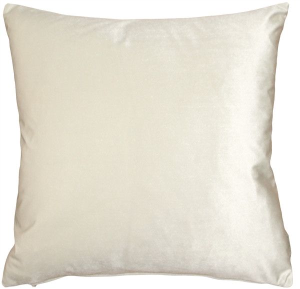Corona Ivory Velvet Pillow 19x19