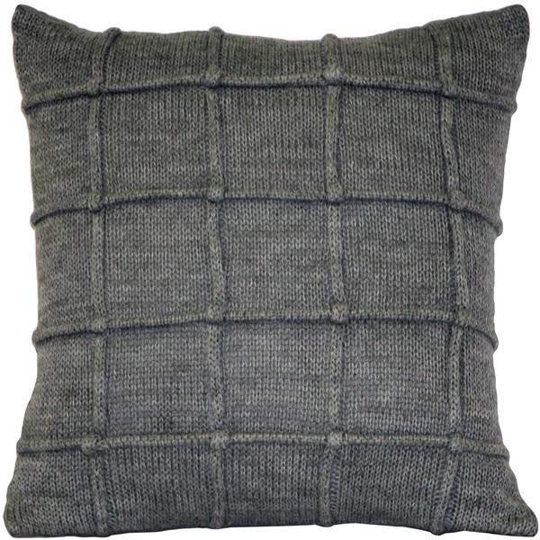 Hygge Urban Gray Knit Pillow