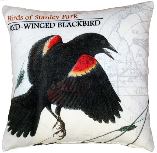 Red-Winged Black Bird Pillow 18X18