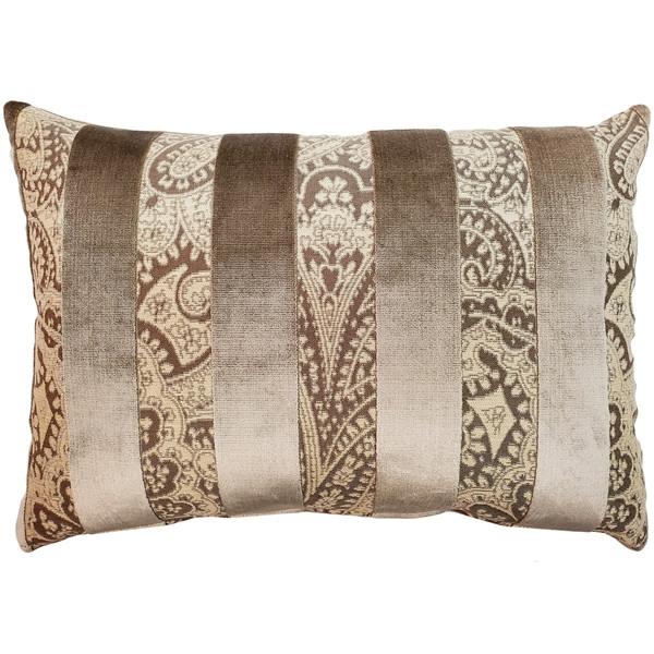 Robert Owl Stripe Velvet Pillow 15x22